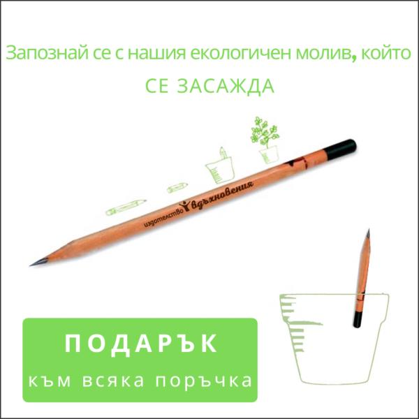 Екологичен молив със семена